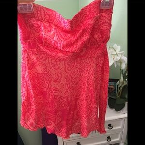 Guess jean strapless top M but runs small